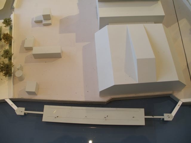 REO's model showing extended jetty running in front of Waste Transfer Station