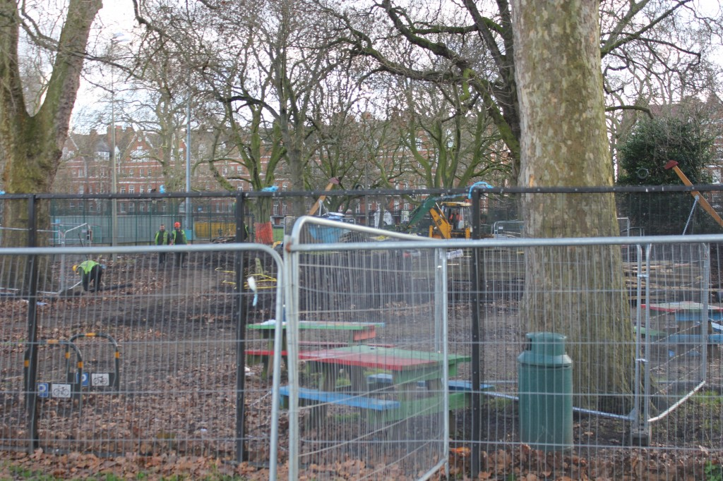 Demolished adventure playground