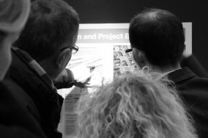 Discussion at the public consultation event for Peckham Rye Station & Gateway Areas