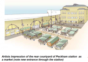Artist impression of Peckham Rye Lane square