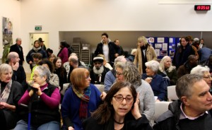 A crowd beginning to gather for the Community Council Meeting, Wed 11 Feb