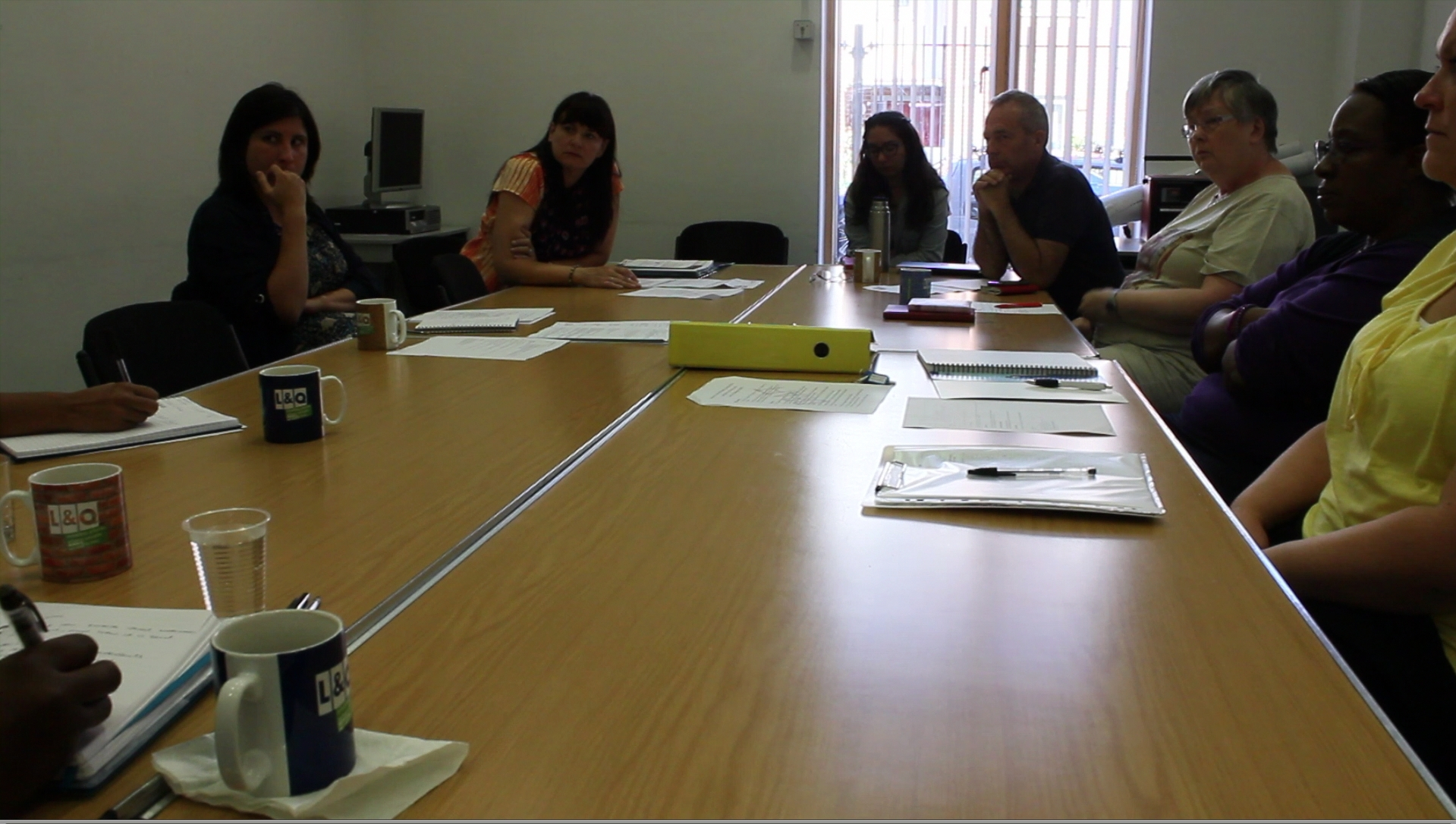 Meeting between community steering group members and L&Q staff, in which staff asked not to be filmed or photographed