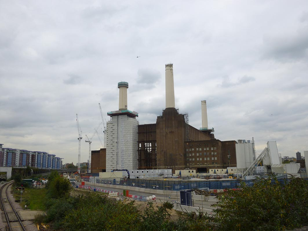 The chimneys as they appeared on September 27th