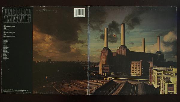 Copertina del celebre album  Animals dei Pink Floyd