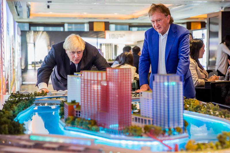 Boris Johnson at the launch of London City Island in Ballymore group sales event in Hong Kong, 18/10/2013) (from http://www.ballymoregroup.com/en-GB/news/41)
