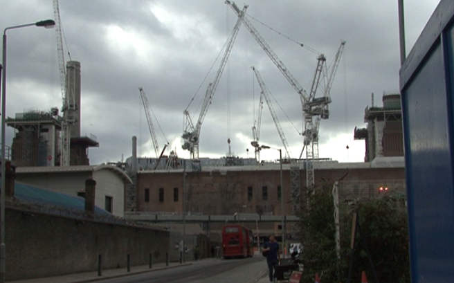 Battersea Power Station and the unexpected demolition of the East wall.