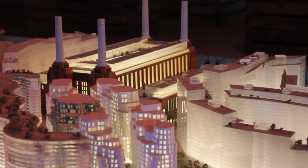 Plastic model of the Power Station redevelopment plan.